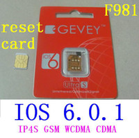 Wholesale F981 GEVEY ULTRA S Unlock sim Original reset sim card For iphone s ios6 ios