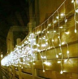 110v-240v 120LED 3m-Christmas Curtain lights festival light Article ice lamp EU US UK AU plug blue