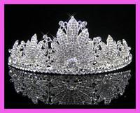 Crown Lace  Wedding Bridal crystal veil tiara crown headband CR186