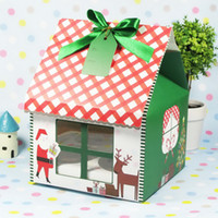 Wholesale Christmas design Four Cake packing Cake boxes Cupcake boxes with Insert