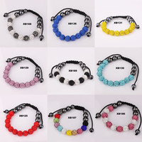 Wholesale Top Charm Disco Ball Bead Paris Crystal Ball Bracelet Colour Handmade Fashion Jewelry Women