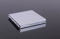 Wholesale Blank Compact Mirror Square Makeup Mirror Silver Color M060F