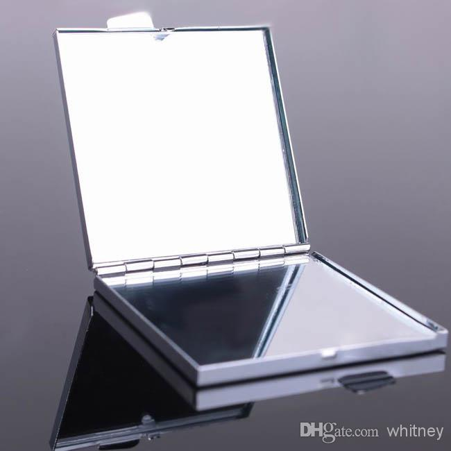 Compact Mirror Blank Square Makeup Mirror Silver Color 50X M060F Compact  Mirrors Silver Mirror Compact Makeup Mirror Online with  2 19 Piece on  Whitney s. Compact Mirror Blank Square Makeup Mirror Silver Color 50X M060F