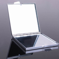 Wholesale 50X Compact Mirror Blank Square Makeup Mirror Silver Color