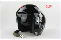 Wholesale Jet Pilot Flight Helmet Open Face Motorcycle Helmet B Black Mask