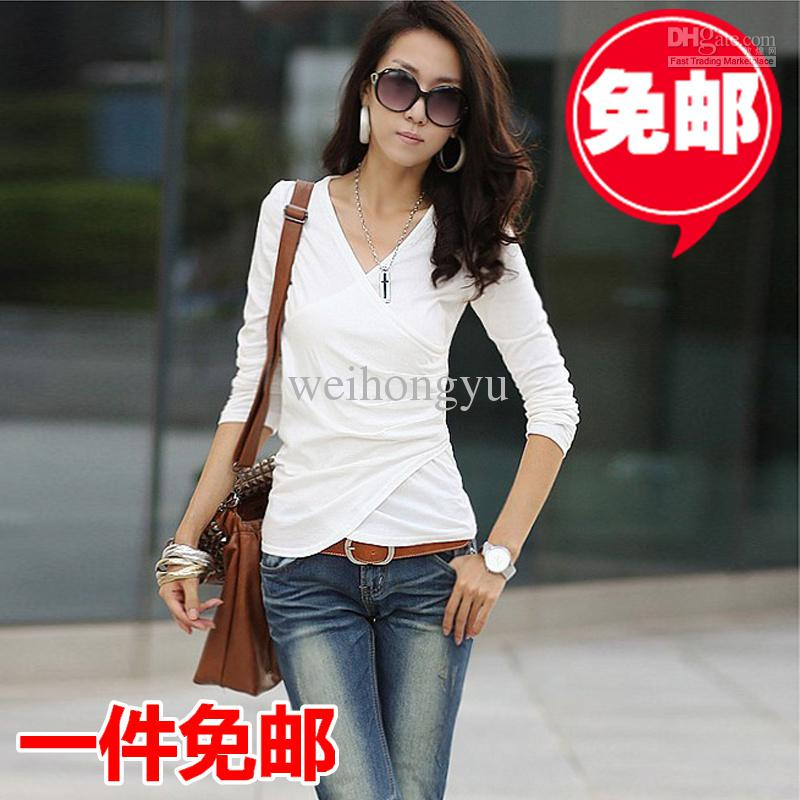 Top womens clothing websites. 2012 New Arrival,Korean/Japan women's fashion Long-sleeved sweet t shirts top