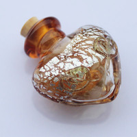 Wholesale Murano glass bottle pendant Aroma vials perfume essential oil vials scent vials glass spray perfume bottle aromatherapy oil diffuser