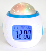 Wholesale LED Digital Romantic Night Light Musical Star Sky Projector Alarm Clock Calendar Lamp Child Kid Lazy