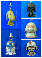Wholesale Cute Star Wars Mini Figures Phone Strap mix order D67