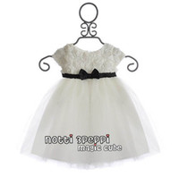 Wholesale Baby girls dress kids children notti3peppi white rose magic cube veil girls dresses B yjm
