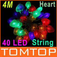 LED christmas lights color led - 4M Colorful Heart shape Christmas Party Decoration light led Multi Color Xmas String Lights H8993