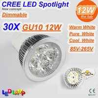 Wholesale 30X Factory Price W Dimmable GU10 x3W V Spotlight Downlight Led Bulb Lamp Spot light