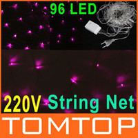 Net led christmas net lights - 96 LED Pink Light Christmas Wedding Party Decoration Net Light Xmas String lights EU V H8999