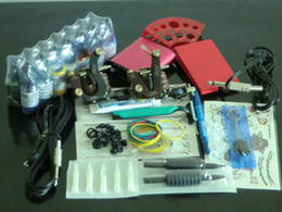 Wholesale Complete Beginner Tattoo Kit Set MACHINE GUNS POWER SUPPLIES NEEDLES INKS SET EQUIPMENT