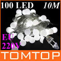 Wholesale 100 LED M White Christmas Decoration String Lights outdoor string light DC Joint EU V H9001