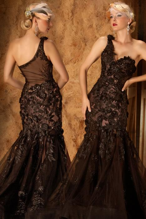 2013 Sexy Lace Prom Dresses One Shoulder Emboridery Applique ...