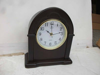 Wholesale high glass finishing wooden table clock at house and office