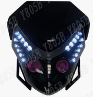 Wholesale HEADLIGHT FAIRING STREETFIGHTER ENDURO CROSS UNIVERSAL Black