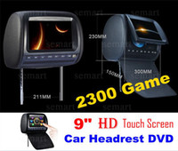 Wholesale New HD inch Digital Headrest Car DVD Player With Wireless Game Controller Bit Game