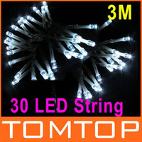 Wholesale 30LED M White light led String Lights battery string for Christmas Wedding Party Decoration H9004W