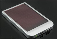 Wholesale 2600MAH Solar Power Battery Panel Charger for iPhone S MP3 MP4 PDA Cell Phone