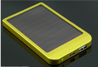 Wholesale 2600mAh Solar Charger solar panel Portable USB Solar Power bank