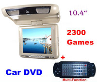 Wholesale 10 Inch Flip Down HD Roof Mount CAR DVD Player Monitor With Wireless Game Controller IR USB SD FM