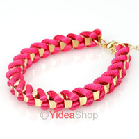 Wholesale Fashion Jewellery Red Thick Cord Braid Rope Friendship Lucky Bracelets