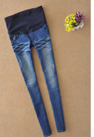 Wholesale womens maternity pregnant elastic waistband jeans pants trousers bottoms