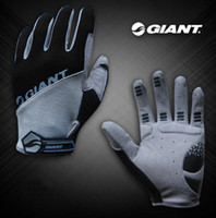 Wholesale Bike Cycling FULL Finger GIANT Black Colour Gloves Bicycle Glove Size M XL