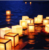 Wholesale floating water chinese lanterns wishing water River paper candle light