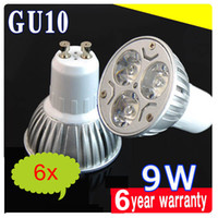 110V 9W Warm White 6pcs lot High power Cree Gu10 9W 3x3W 220V 85-265V Dimmable Led Light Bulb Lamp Led Spotlight