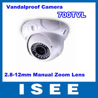 Wholesale CCTV Vandal proof IR Camera TVL Option Dome Camera to mm Dynamic Varifocal Lens