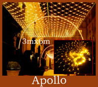 Wholesale LED Net Light m m Leds Meshwork Lamp String Light Curtain Xmas Wedding Party Holiday Christmas Fairy Lighting