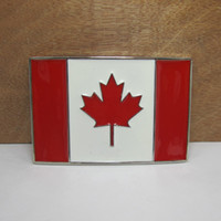 belts canada - BuckleHome fashion Canada flag belt buckle with silver finish FP
