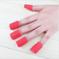 Wholesale 12 roll colors nail polish removier bandage armor set nail cotton removable QQ nail glue