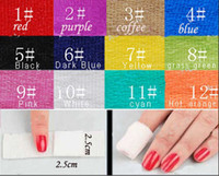 Wholesale 12 roll colors bandage armor set nail polish removier nail cotton removable QQ nail glue
