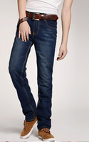 Wholesale 2012 New arrival men s Jeans supermans Straight wear white washed large code cheap bule drop CH905