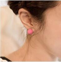 Wholesale HOT New glass pearl ear ring clip stud earring earpin ear stud pierced earrings pairs
