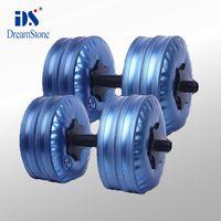Blue adjustable dumbbell bench - Gym equipment Water flled Dumbbell adjustable dumbbells EMS pairs