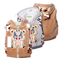 Wholesale new baby clothing style boys Fashion Korean version of tiger cartoon children wool vest wool coat