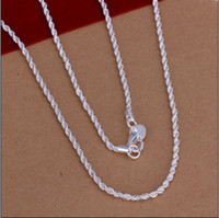 Wholesale Low Price Top Quality MM inches sterling silver twisted rope chain necklace fashion jewelry