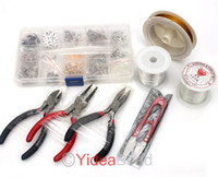 Wholesale 3 SET JEWELLERY MAKING KIT BEADS FINDINGS PLIERS Fit Jewelry Accessories DIY