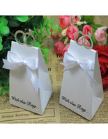 Wholesale 2013 Hot Sale Wedding Favors Ring Favor Holders Wedding Candy Box With White Bowknot