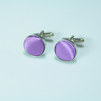 Wholesale Luxury gift Men s Cufflink The new for men purple cloth style cuff