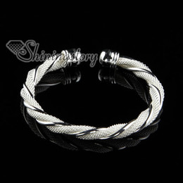 925 sterling silver filled brass mesh bangles cuff bracelets for woman jewelry jewellery Sb50470 handmade cheap china fashion jewelry