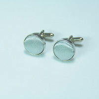 Wholesale Cuff Cufflinks With solid cloth Cufflink Perfect Gift pairs F00300