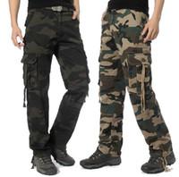 Men camo clothing - Men Army Cargo Camo Combat Trousers Pants Clothes Casual Slim Fit Pant Size Color