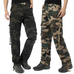 Wholesale Men Army Cargo Camo Combat Trousers Pants Clothes Casual Slim Fit Pant Size Color
