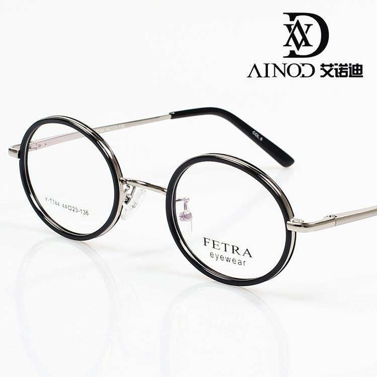 free shipping nostalgic vintage eyeglasses frame glasses frame small circle glasses